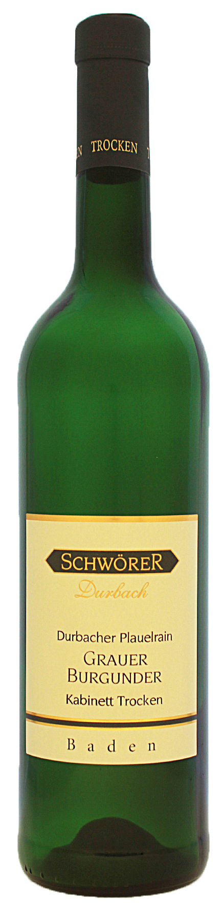 Durbacher Plauelrain Grauburgurgunder Kabinett trocken Weingut Schwörer Durbach 2020