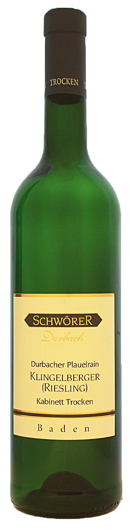 Durbacher Plauelrain Riesling KabInett trocken Weingut Schwörer Durbach 2020