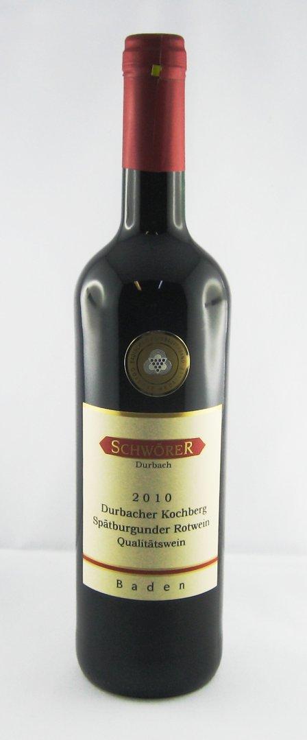 Durbacher Kochberg Spätburgunder Rotwein Weingut Schwörer Durbach 2018