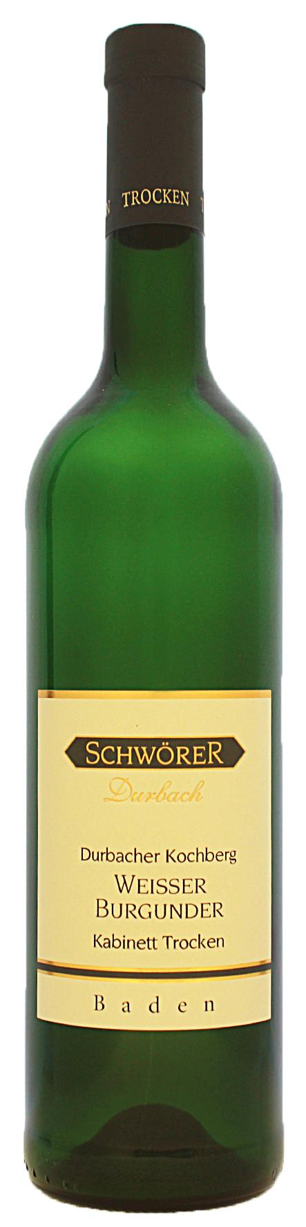 Durbacher Kochberg Weißer Burgunder Kabinett trocken Weingut Schwörer Durbach 2020