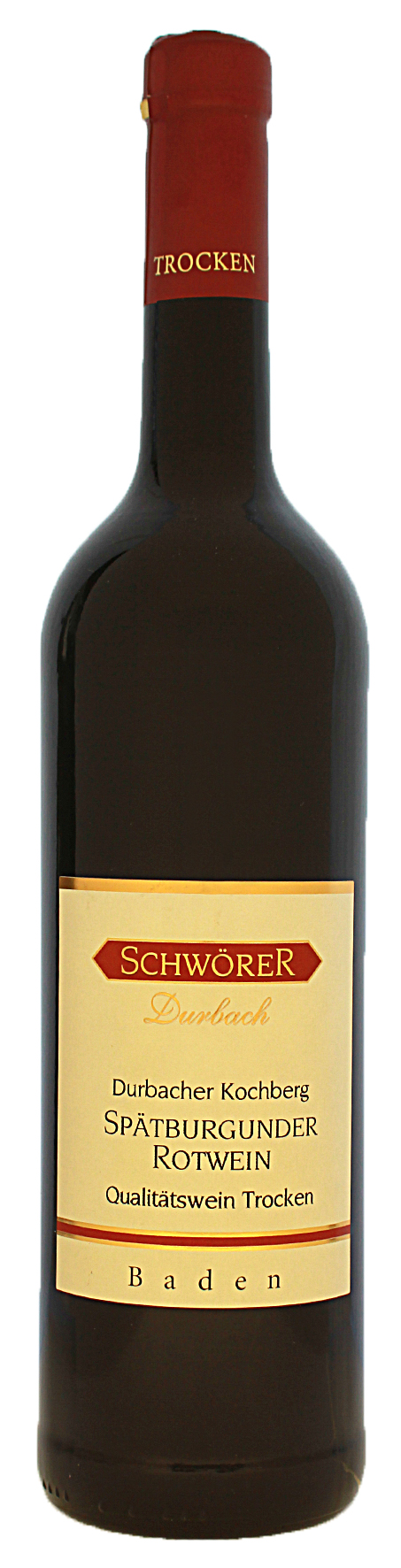 Durbacher Kochberg Spätburgnder Rotwein trocken Weingut Schwörer Durbach 2018